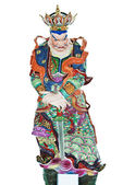 Chinese statue isolated with clipping path. — Stock Photo