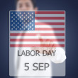 Asibusinessmpushing Labor day — Stock Photo #11551892