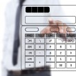 Asibusinessmwriting calculator on white board — Foto Stock #11554852