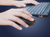 Hand click mouse — Stock Photo