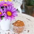 Stock Photo: Beauty flower with cookies