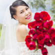 Beauty bride in wedding dress. — Stock Photo