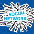 Social network communication word — Stock Photo