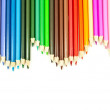 Colorful pencil texture background — Zdjęcie stockowe