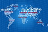 Comunicação de rede social. — Foto Stock