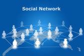 Sociale netwerkcommunicatie — Stockfoto