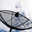 Blue sky with the Satellite dish — Stock Photo