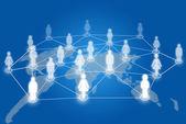 Comunicación de la red social — Foto de Stock