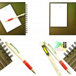 Set of Notebook isolated. — Stock Photo
