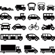 Stock Vector: Transportation icons set