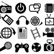 Multimedia icon set — Stock Vector
