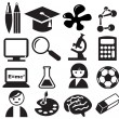 education icons — Stock Vector #10756811