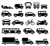 Transportation icons set — Stok Vektör