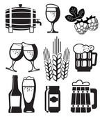 Beer Set — Stock Vector