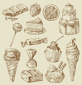 Sweet collection — Stockvector