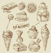 Tatlı koleksiyonu — Stok Vektör