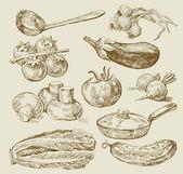 Mat bakgrund — Stockvektor