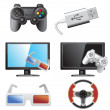 Gaming icons — Stock Vector