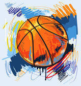 Vector basketball — Stock Vector