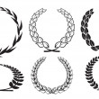 Vector laurel wreaths - Stock Vector