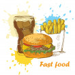 Fast food background — Stock Vector