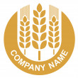 Wheat logo — Stock Vector