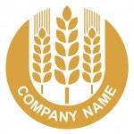 logotipo de trigo — Vector de stock