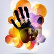 Black print of a hand - Stock Vector