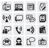 Communication icons — Vector de stock