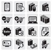 E-boek pictogrammen — Stockvector