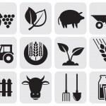 Farming icons. — Stock Vector #11477111