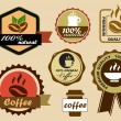 Coffee Labels — Stock Vector