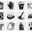 Cleaning icons — Vector de stock #11477117