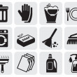 Cleaning icons — Stok Vektör #11477117