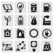 Eco icons for clean energy — Stock Vector