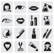 Beauty icons — Stok Vektör