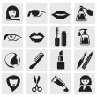 Beauty icons - Stok Vektör