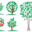 Tree set. Vector — Stock Vector