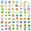 A lot of icons — Stock Vector