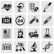 Medicine & Heath Care icons — Vector de stock #11477141