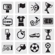 Icons set Soccer — Vector de stock