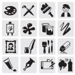 Icons set arts — Stock Vector