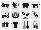 Farming icons. — Stockvektor
