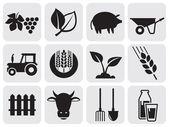 Jordbruk ikoner. — Stockvektor