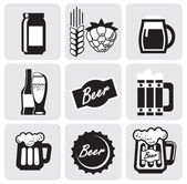 Beer icons — Stock Vector