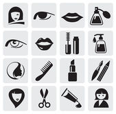 Beauty icons — Vector de stock