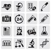 Geneeskunde & heide zorg iconen — Stockvector