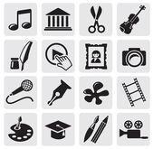 Icono de la cultura arte — Vector de stock