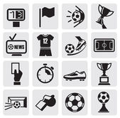 Icons set Soccer — Vettoriale Stock