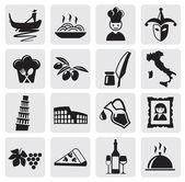 Italian icons — Stock Vector